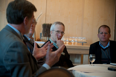(L-R): John Delaney, Professor of Oceanography, University of Washington; Roger Payne, Founder and President, Ocean Alliance; Eric Scigliano, News Editor, Seattle Metropolitan magazine; and Michael Copeland, Senior Writer, Fortune