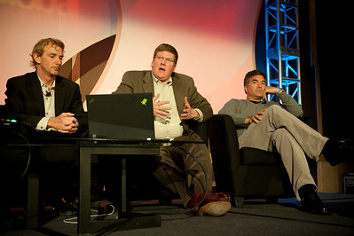 CTO Design Challenge I: (L-R) Tom Wesselman, CTO, Unified Communications, Cisco; panel leader Ty Carlson, Architect, SiArch, Microsoft; and Martin Tobias, Founder and CEO, Kashless Inc.
