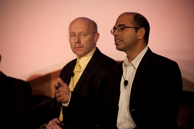 CTO Design Challenge II: Bill Schrier (L), CTO, City of Seattle; and Sailesh Chutani, Senior Director, Windows Mobile, Microsoft