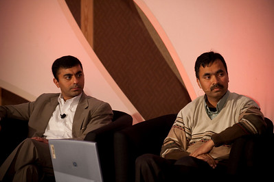CTO Design Challenge II: Sajal Sahay, Executive Director Marketing, Devices Innovation, T-Mobile USA; and panel leader Chetan Sharma, President, Chetan Sharma Consulting
