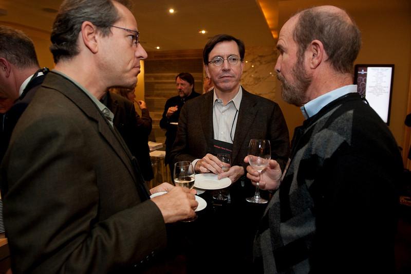 FiReStar Reception: (L-R) Kevin Surace, CEO of FiReStar company Serious Materials; Gary Lang, Partner Product Unit Management, Microsoft; and Forest Baskett, General Partner, New Enterprise Associates