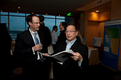 FiReStar Reception: Alan Smith (L), Partner, Corporate Group, Fenwick & West LLP; and Mark Ashida, Managing Director, OVP Venture Partners