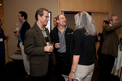 FiReStar Reception: (L-R) Kevin Surace, CEO of FiReStar company Serious Materials; Jan Staenberg, Managing Partner, Staenberg Venture Partners; and Sally Anderson, Editor-in-Chief and Production Manager, Strategic News Service