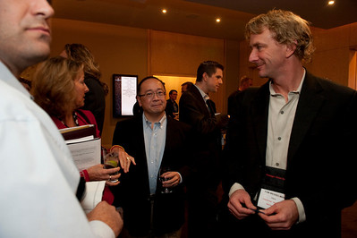 FiReStar Reception: (L-R) Sharon Anderson-Morris, Programs Director, Strategic News Service; Mark Ashida, Managing Director, OVP Venture Partners; and Tom Wesselman, Senior Manager, CTO Unified Communications, Cisco
