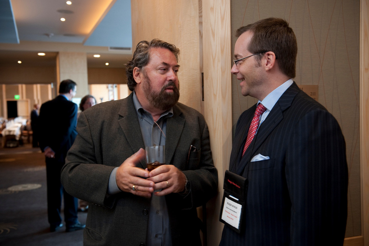 Mark Anderson (L), SNS CEO and FiRe Chair; and Roger Nyhus, President and CEO, Nyhus Communications