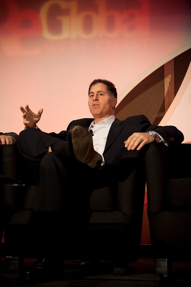 """Centerpiece Speaker Michael Dell, Chair and CEO of Dell Inc.  October 15, 2009, Seattle. 170 leaders from technology, business, science, education, policy, and media sectors met in a new 12-hour conference model created by the team at Strategic News Service, producer of the annual Future in Review (FiRe) conference since 2003. The purpose of the event, called FiReGlobal : West Coast, is to bring global and local """"thought leaders"""" together to solve problems of broad and shared impact. Topics included high-tech industry forecasting, alternative energy, broadband and communications technologies, environmental issues (focused on ocean ecology), healthcare, education, public policy, and the future of local and global economies. This was the first of a planned international FiReGlobal series focusing on regional issues with global implications."""