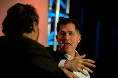 Centerpiece Conversation: Michael Dell (R), Chair and CEO of Dell Inc., with host Mark Anderson, CEO of SNS and Chair of FiRe