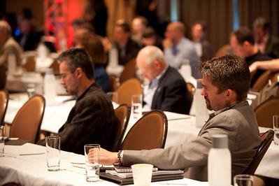 """Revolutionizing Education in Washington"": Attendees Gary Roshak (L), Consultant; and Michael Pfeffer, Managing Partner, Kolohala Ventures"