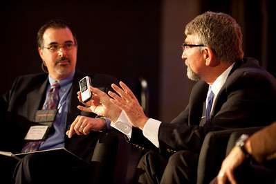 """Revolutionizing Education in Washington"": Host Frank Catalano (L), Principal, Intrinsic Strategy; and Randy Dorn, Washington State Superintendent of Public Instruction"