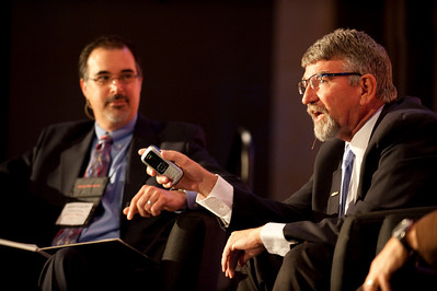 """Revolutionizing Education in Washington"": Host Frank Catalano (L), Principal, Intrinsic Strategy; and Randy Dorn, Washington State Superintendent of Public Instruction"