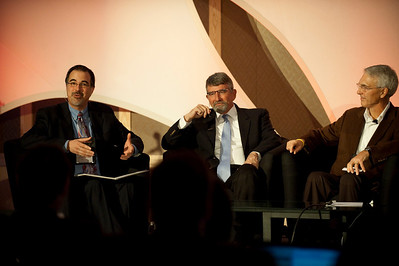 """Revolutionizing Education in Washington"": (L-R) Host Frank Catalano, Principal, Intrinsic Strategy; Randy Dorn (L), Washington State Superintendent of Public Instruction; and David Engle, Director of U.S. Operations, SNS Project Inkwell, and Superintendent of Schools, North Platte Public Schools"