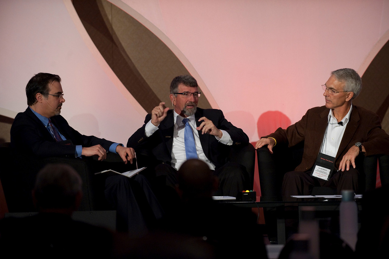 """""""Revolutionizing Education in Washington"""": (L-R) Host Frank Catalano, Principal, Intrinsic Strategy; Randy Dorn (L), Washington State Superintendent of Public Instruction; and David Engle, Director of U.S. Operations, SNS Project Inkwell, and Superintendent of Schools, North Platte Public Schools"""