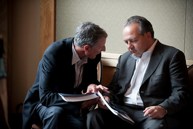 Lewis Douglas (L), Managing Director, Ocean Alliance; with Rob Glaser, Founder, Chair, and CEO, RealNetworks