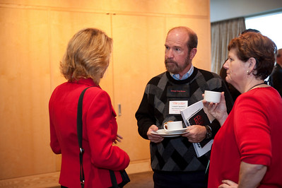 (L-R) SNS Programs Director Sharon Anderson-Morris; Forest Baskett, General Partner, New Enterprise Associates; and Janis Machala, Director of LaunchPad Services, University of Washington
