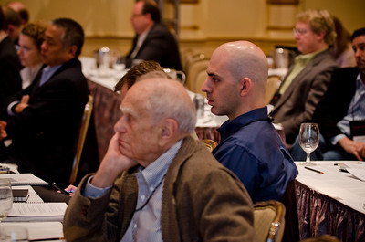 Over 130 leaders in the fields of computer and internet technology, telecommunications and marine sciences gathered at the Fairmont Hotel in Seattle for the Second FiRe Global: West Coast, a conference produced by Strategic News Services (SNS) and designed to reach across disciplines to encourage technology based solutions to a range of economic and social issues.   SNS founder Mark Anderson, a highly respected prognosticator and opinion leader in the in computer technology industries, was the chairman of the one day event and the keynote speaker. Panel discussions and presentations ran the gamut from broadband implementation, to advances in computing hardware, to global warming, to the relative merits of cloud computing and net neutrality, to health care solutions implementation, to international economic trends, to the health of Minke whale populations.
