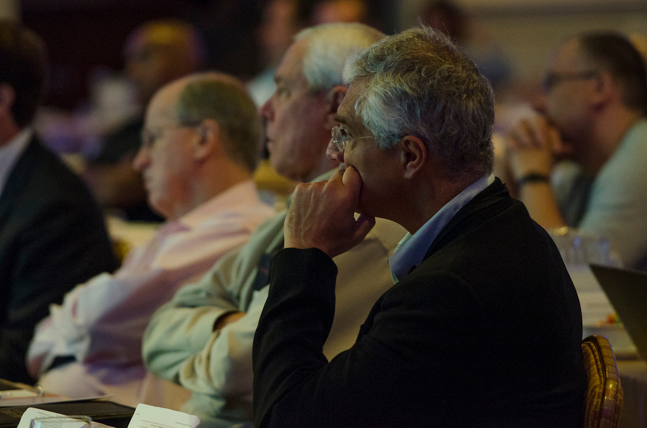 L-R: Bill Harris, Science Foundation Arizona; Don Budinger, The Rodel Foundations; and Louie Psihoyos, Oceanic Preservation Society.  May 22-25, 2012: At the Montage in Laguna Beach, CA, 200 thought leaders - high technology engineers and executives, entrepreneurs, scientists, and media professionals - gathered for 3 days to participate in FiRe X, the 10th annual Future in Review conference, presented by the Strategic News Service and led by SNS founder and technology visionary Mark Anderson. Interviews, panel discussions, and informal conversations ranged from IP protection to CO2 and climate change, new healthcare paradigms, global economics, ocean toxins, robotics, documentary filmmaking,  medical diagnostics, technology solutions for social issues, global economics, mobile computing, and tech solutions to human trafficking and aging with dignity.