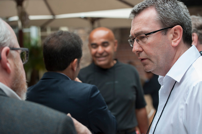 L-R: John Hagel, Matthias Hohensee, Kamran Elahian, and Patrick Lane.  May 22-25, 2012: At the Montage in Laguna Beach, CA, 200 thought leaders - high technology engineers and executives, entrepreneurs, scientists, and media professionals - gathered for 3 days to participate in FiRe X, the 10th annual Future in Review conference, presented by the Strategic News Service and led by SNS founder and technology visionary Mark Anderson. Interviews, panel discussions, and informal conversations ranged from IP protection to CO2 and climate change, new healthcare paradigms, global economics, ocean toxins, robotics, documentary filmmaking,  medical diagnostics, technology solutions for social issues, global economics, mobile computing, and tech solutions to human trafficking and aging with dignity.