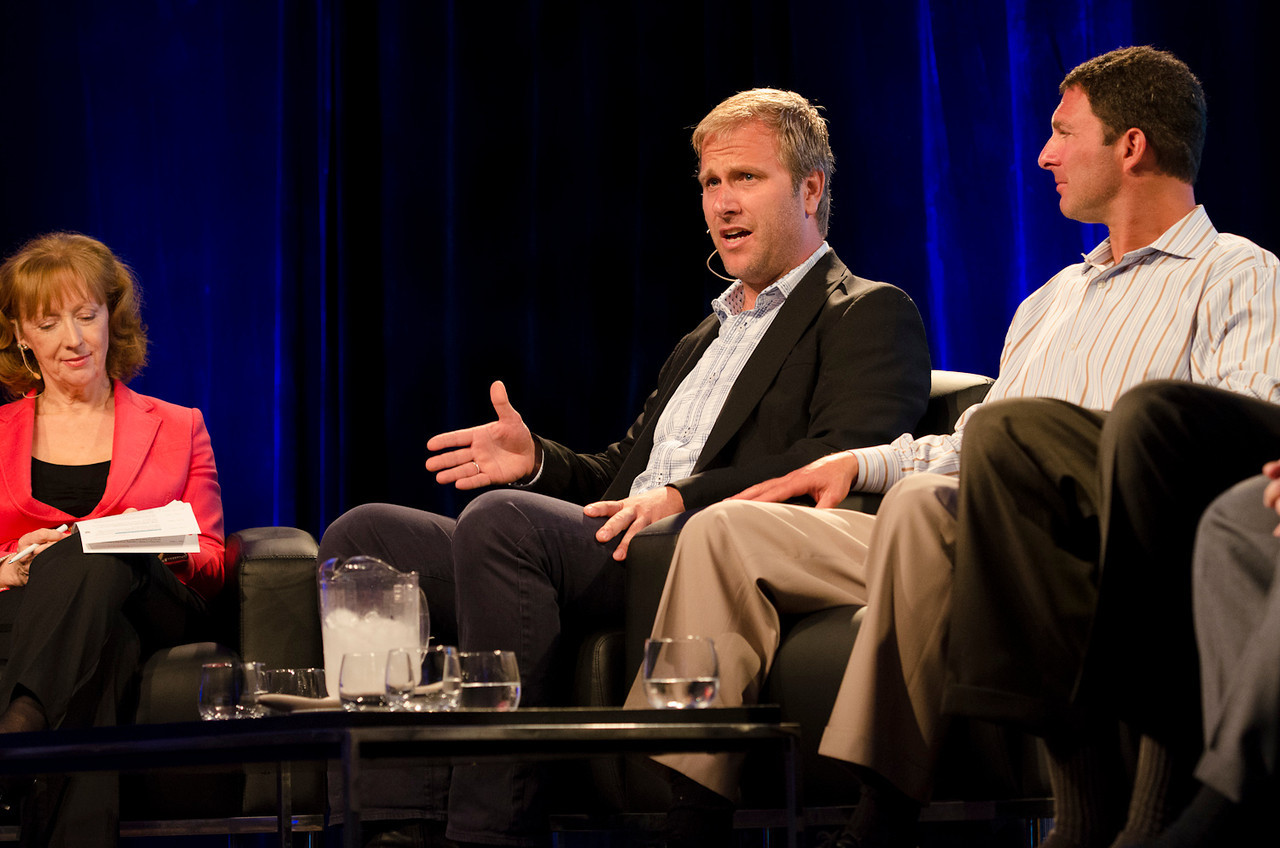 Leslie Curwen, BBC; Don Pickering, OneOcean; and Dan Simon, Heliae.  May 22-25, 2012: At the Montage in Laguna Beach, CA, 200 thought leaders - high technology engineers and executives, entrepreneurs, scientists, and media professionals - gathered for 3 days to participate in FiRe X, the 10th annual Future in Review conference, presented by the Strategic News Service and led by SNS founder and technology visionary Mark Anderson. Interviews, panel discussions, and informal conversations ranged from IP protection to CO2 and climate change, new healthcare paradigms, global economics, ocean toxins, robotics, documentary filmmaking,  medical diagnostics, technology solutions for social issues, global economics, mobile computing, and tech solutions to human trafficking and aging with dignity.