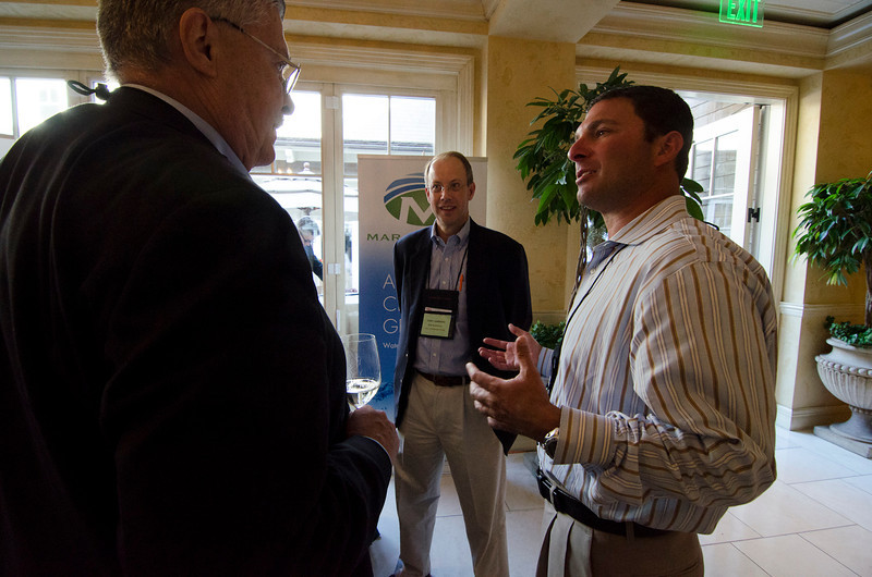 FiReStarters Exhibition: (L-R) Robert Anderson with FiReStarters Tony Lammers (MAR Systems) and Dan Simon (Heliae).  May 22-25, 2012: At the Montage in Laguna Beach, CA, 200 thought leaders - high technology engineers and executives, entrepreneurs, scientists, and media professionals - gathered for 3 days to participate in FiRe X, the 10th annual Future in Review conference, presented by the Strategic News Service and led by SNS founder and technology visionary Mark Anderson. Interviews, panel discussions, and informal conversations ranged from IP protection to CO2 and climate change, new healthcare paradigms, global economics, ocean toxins, robotics, documentary filmmaking,  medical diagnostics, technology solutions for social issues, global economics, mobile computing, and tech solutions to human trafficking and aging with dignity.