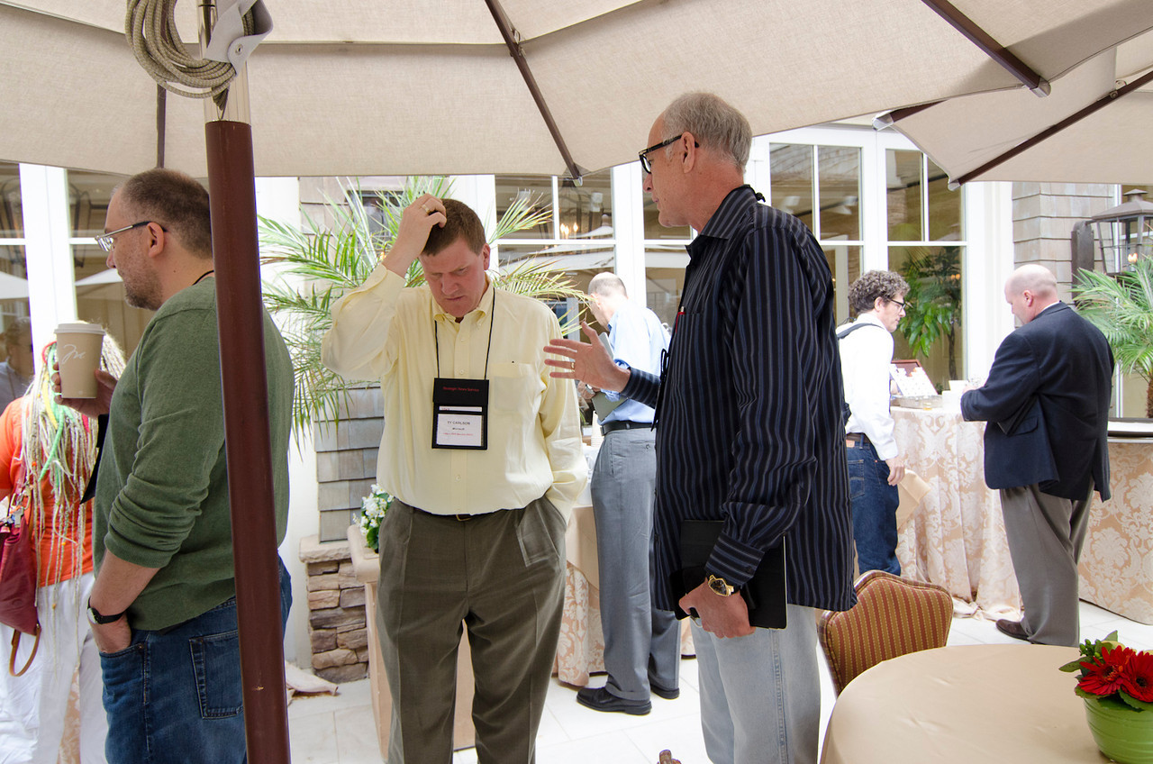 L-R: Mary Branscombe, Vaclav Vincalek, Ty Carlson, Glen Hiemstra, Peter Byck, and Peter E.Y. Sarna.  May 22-25, 2012: At the Montage in Laguna Beach, CA, 200 thought leaders - high technology engineers and executives, entrepreneurs, scientists, and media professionals - gathered for 3 days to participate in FiRe X, the 10th annual Future in Review conference, presented by the Strategic News Service and led by SNS founder and technology visionary Mark Anderson. Interviews, panel discussions, and informal conversations ranged from IP protection to CO2 and climate change, new healthcare paradigms, global economics, ocean toxins, robotics, documentary filmmaking,  medical diagnostics, technology solutions for social issues, global economics, mobile computing, and tech solutions to human trafficking and aging with dignity.