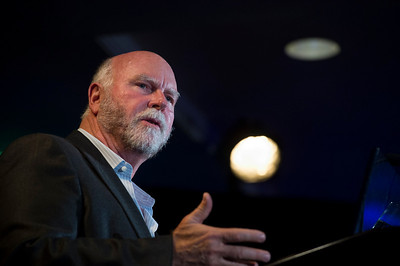 Opening Night speaker Craig Venter, Chair of Synthetic Genomics and the J. Craig Venter Institute.  May 22-25, 2012: At the Montage in Laguna Beach, CA, 200 thought leaders - high technology engineers and executives, entrepreneurs, scientists, and media professionals - gathered for 3 days to participate in FiRe X, the 10th annual Future in Review conference, presented by the Strategic News Service and led by SNS founder and technology visionary Mark Anderson. Interviews, panel discussions, and informal conversations ranged from IP protection to CO2 and climate change, new healthcare paradigms, global economics, ocean toxins, robotics, documentary filmmaking,  medical diagnostics, technology solutions for social issues, global economics, mobile computing, and tech solutions to human trafficking and aging with dignity.