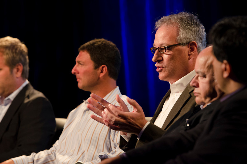 L-R: FiReStarters Don Pickering, Dan Simon, John Vadino, David E.Y. Sarna, and Kian Saneii.  May 22-25, 2012: At the Montage in Laguna Beach, CA, 200 thought leaders - high technology engineers and executives, entrepreneurs, scientists, and media professionals - gathered for 3 days to participate in FiRe X, the 10th annual Future in Review conference, presented by the Strategic News Service and led by SNS founder and technology visionary Mark Anderson. Interviews, panel discussions, and informal conversations ranged from IP protection to CO2 and climate change, new healthcare paradigms, global economics, ocean toxins, robotics, documentary filmmaking,  medical diagnostics, technology solutions for social issues, global economics, mobile computing, and tech solutions to human trafficking and aging with dignity.