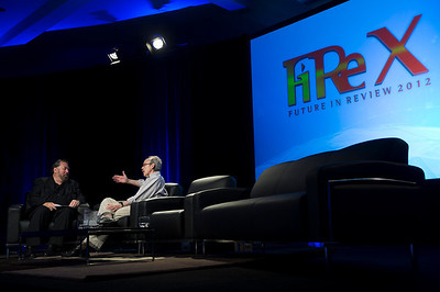 Mark Anderson (L) and Bill Janeway, Warburg Pincus.  May 22-25, 2012: At the Montage in Laguna Beach, CA, 200 thought leaders - high technology engineers and executives, entrepreneurs, scientists, and media professionals - gathered for 3 days to participate in FiRe X, the 10th annual Future in Review conference, presented by the Strategic News Service and led by SNS founder and technology visionary Mark Anderson. Interviews, panel discussions, and informal conversations ranged from IP protection to CO2 and climate change, new healthcare paradigms, global economics, ocean toxins, robotics, documentary filmmaking,  medical diagnostics, technology solutions for social issues, global economics, mobile computing, and tech solutions to human trafficking and aging with dignity.