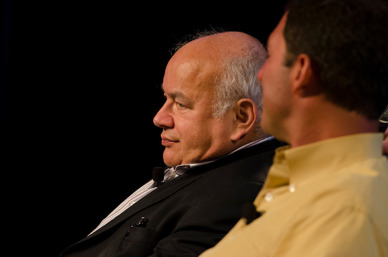 """From Carbon to Carbon"": David E.Y. Sarna (L), WoodallTech; and Dan Simon, Heliae.  May 22-25, 2012: At the Montage in Laguna Beach, CA, 200 thought leaders - high technology engineers and executives, entrepreneurs, scientists, and media professionals - gathered for 3 days to participate in FiRe X, the 10th annual Future in Review conference, presented by the Strategic News Service and led by SNS founder and technology visionary Mark Anderson. Interviews, panel discussions, and informal conversations ranged from IP protection to CO2 and climate change, new healthcare paradigms, global economics, ocean toxins, robotics, documentary filmmaking,  medical diagnostics, technology solutions for social issues, global economics, mobile computing, and tech solutions to human trafficking and aging with dignity."