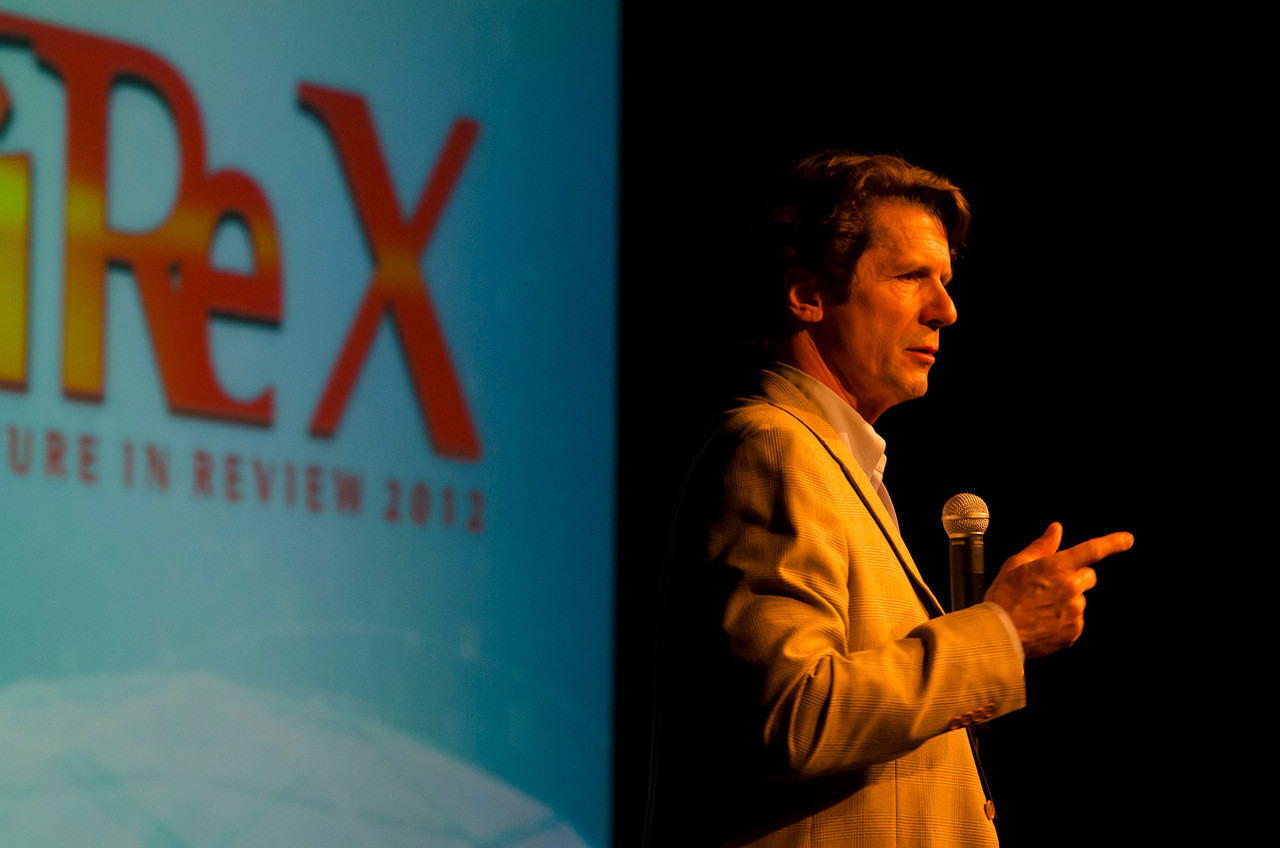 """FiRe Film Night: James Balog, Photographer, """"Chasing Ice""""; and Director, Extreme Ice Survey.  May 22-25, 2012: At the Montage in Laguna Beach, CA, 200 thought leaders - high technology engineers and executives, entrepreneurs, scientists, and media professionals - gathered for 3 days to participate in FiRe X, the 10th annual Future in Review conference, presented by the Strategic News Service and led by SNS founder and technology visionary Mark Anderson. Interviews, panel discussions, and informal conversations ranged from IP protection to CO2 and climate change, new healthcare paradigms, global economics, ocean toxins, robotics, documentary filmmaking,  medical diagnostics, technology solutions for social issues, global economics, mobile computing, and tech solutions to human trafficking and aging with dignity."""