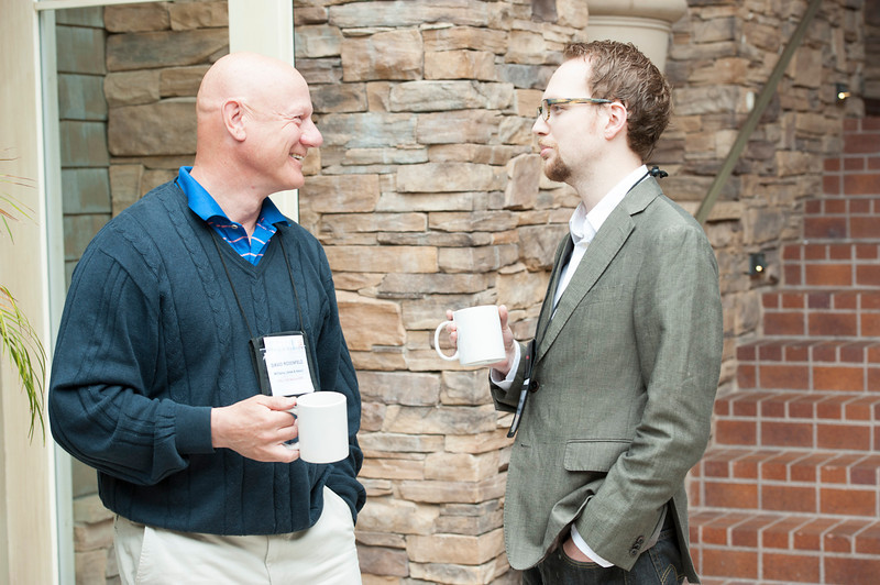 David Rosenfeld (L) and Brett Horvath.  May 22-25, 2012: At the Montage in Laguna Beach, CA, 200 thought leaders - high technology engineers and executives, entrepreneurs, scientists, and media professionals - gathered for 3 days to participate in FiRe X, the 10th annual Future in Review conference, presented by the Strategic News Service and led by SNS founder and technology visionary Mark Anderson. Interviews, panel discussions, and informal conversations ranged from IP protection to CO2 and climate change, new healthcare paradigms, global economics, ocean toxins, robotics, documentary filmmaking,  medical diagnostics, technology solutions for social issues, global economics, mobile computing, and tech solutions to human trafficking and aging with dignity.