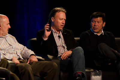 """What Every CIO Should Know About Cloud Computing"": (L-R) David Nelson, Boeing; Paul Strong, VMware; and Winston Damarillo, Morphlabs.  May 22-25, 2012: At the Montage in Laguna Beach, CA, 200 thought leaders - high technology engineers and executives, entrepreneurs, scientists, and media professionals - gathered for 3 days to participate in FiRe X, the 10th annual Future in Review conference, presented by the Strategic News Service and led by SNS founder and technology visionary Mark Anderson. Interviews, panel discussions, and informal conversations ranged from IP protection to CO2 and climate change, new healthcare paradigms, global economics, ocean toxins, robotics, documentary filmmaking,  medical diagnostics, technology solutions for social issues, global economics, mobile computing, and tech solutions to human trafficking and aging with dignity."