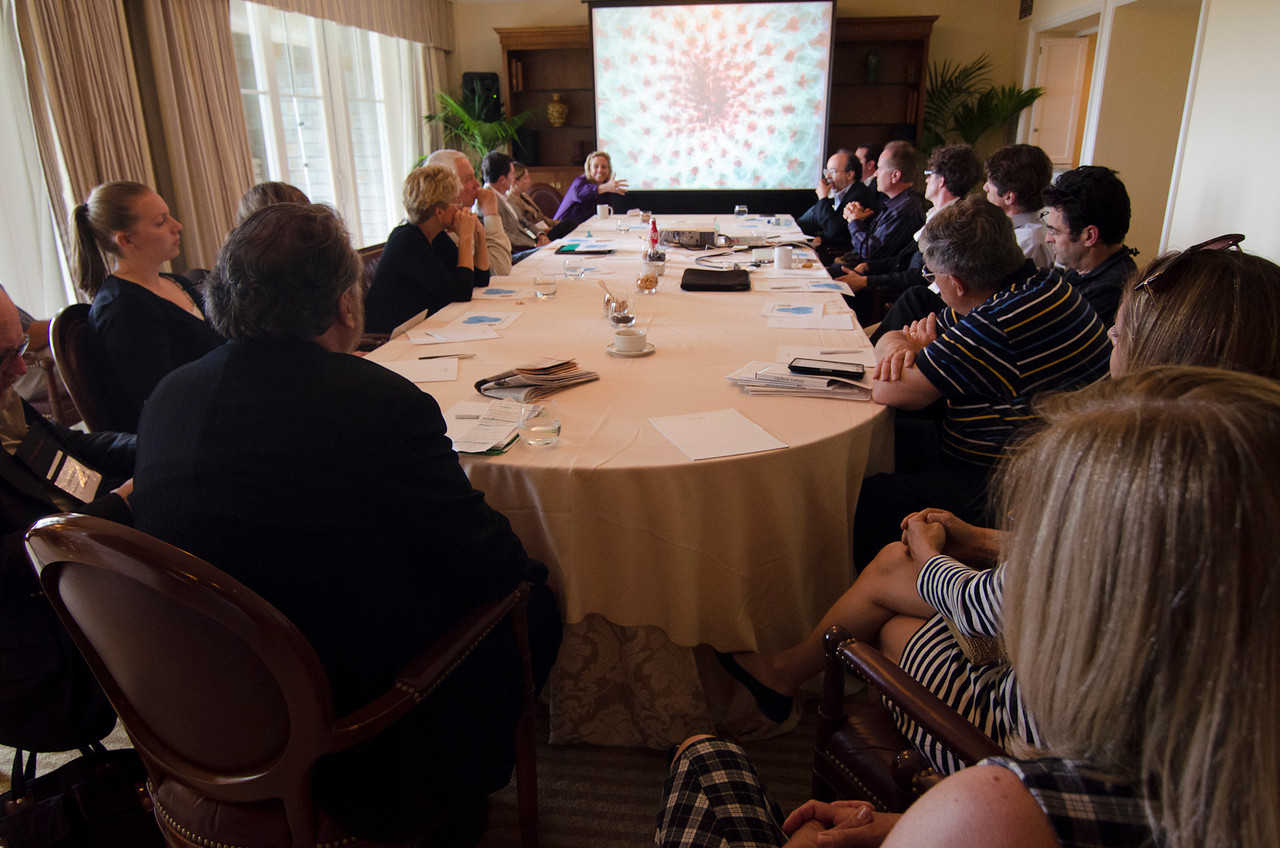 May 22-25, 2012: At the Montage in Laguna Beach, CA, 200 thought leaders - high technology engineers and executives, entrepreneurs, scientists, and media professionals - gathered for 3 days to participate in FiRe X, the 10th annual Future in Review conference, presented by the Strategic News Service and led by SNS founder and technology visionary Mark Anderson. Interviews, panel discussions, and informal conversations ranged from IP protection to CO2 and climate change, new healthcare paradigms, global economics, ocean toxins, robotics, documentary filmmaking,  medical diagnostics, technology solutions for social issues, global economics, mobile computing, and tech solutions to human trafficking and aging with dignity.