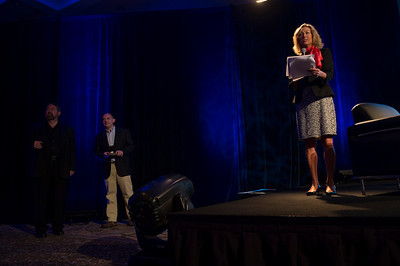 Sharon Anderson-Morris introduces the Rising Stars.  May 22-25, 2012: At the Montage in Laguna Beach, CA, 200 thought leaders - high technology engineers and executives, entrepreneurs, scientists, and media professionals - gathered for 3 days to participate in FiRe X, the 10th annual Future in Review conference, presented by the Strategic News Service and led by SNS founder and technology visionary Mark Anderson. Interviews, panel discussions, and informal conversations ranged from IP protection to CO2 and climate change, new healthcare paradigms, global economics, ocean toxins, robotics, documentary filmmaking,  medical diagnostics, technology solutions for social issues, global economics, mobile computing, and tech solutions to human trafficking and aging with dignity.