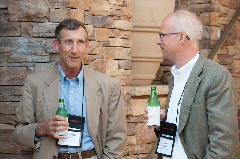 "George Dyson, Author (""Turing's Cathedral"") and Historian of Technology; and Jay Leon, Founder and CEO, CSG Channels.  May 22-25, 2012: At the Montage in Laguna Beach, CA, 200 thought leaders - high technology engineers and executives, entrepreneurs, scientists, and media professionals - gathered for 3 days to participate in FiRe X, the 10th annual Future in Review conference, presented by the Strategic News Service and led by SNS founder and technology visionary Mark Anderson. Interviews, panel discussions, and informal conversations ranged from IP protection to CO2 and climate change, new healthcare paradigms, global economics, ocean toxins, robotics, documentary filmmaking,  medical diagnostics, technology solutions for social issues, global economics, mobile computing, and tech solutions to human trafficking and aging with dignity."