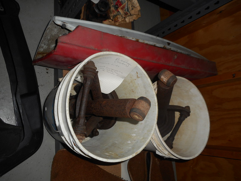 2 engine lids (sedan), front a-arms.