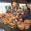 Linda Crowes displayed her basket work