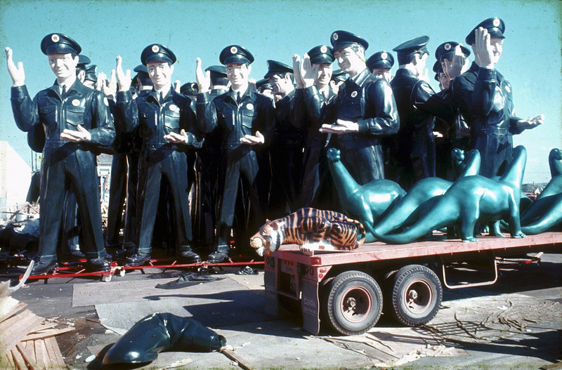 This photo of a crowd of Texaco Big Friends was likely taken outside the International Fiberglass Comany in Venice, Ca., in early 1966, when the advertising giant debuted. Loveland resident Joel Baker came across a copy of this photo and is unsure who originally snapped the picture. (Submitted)