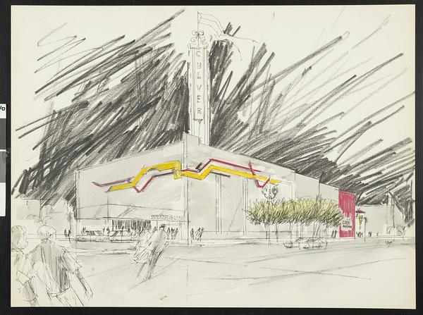 Rendering, Culver City Museum, 1992