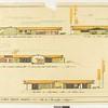 Drawing, Morton Krause Residence, 1959