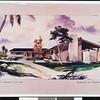 Rendering, Pacific Island Village, 1963