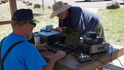 Getting the radio gear connected.