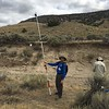 """Participant, Scott White (University of South Carolina), uses a camera on a pole to survery stream bed topography using SfM. North Boulder Creek near Cardwell, Montana. <br /> From short course held at Indiana University Geologic Field Station August 16-19 2016. Short course title: Using TLS and Structure from Motion (SfM) Photogrammetry in Undergraduate Field Education. <a href=""""http://www.unavco.org/education/advancing-geodetic-skills/short-courses/2016/field-education/field-education.html"""">http://www.unavco.org/education/advancing-geodetic-skills/short-courses/2016/field-education/field-education.html</a>"""