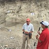 """Bruce Douglas (IUGFS) and Michael Bunds (Utah Valley University) discuss SfM survey methods. North Boulder Creek near Cardwell, Montana.<br /> From short course held at Indiana University Geologic Field Station August 16-19 2016. Short course title: Using TLS and Structure from Motion (SfM) Photogrammetry in Undergraduate Field Education. <a href=""""http://www.unavco.org/education/advancing-geodetic-skills/short-courses/2016/field-education/field-education.html"""">http://www.unavco.org/education/advancing-geodetic-skills/short-courses/2016/field-education/field-education.html</a>"""