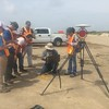Students of University of Houston's Geophysical Field Camp in Galveston, Texas learn about terrestrial laser scanning with support from UNAVCO. (Photo/Marianne Okal, UNAVCO)