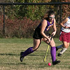 Montachusett Regional Vocational Technical School field hockey played Fitchburg High School on Thursday afternoon, Oct. 24, 2019. Monty Tech #1 Wiley Douccette. SENTINEL & ENTERPRISE/JOHN LOVE