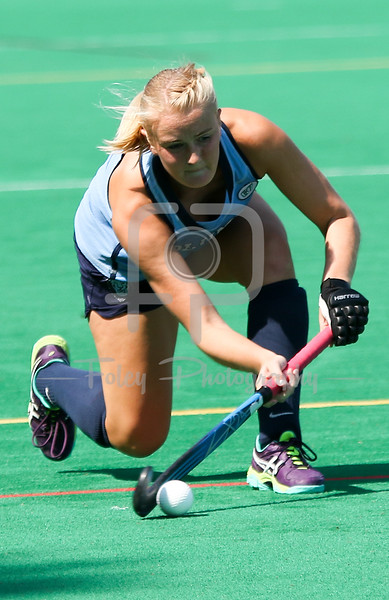 Sunday, September 4, 2016; Worcester, Massachusetts;  A Columbia player sends the ball up the field during the Lions 5-2 victory over the Crusaders at Hart Field in Worcester Massachusetts.