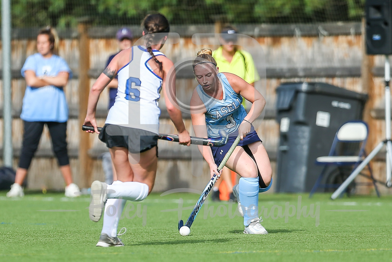 Becker College Hawks Amy Cooper (6) LaSell College Lasers Riley Musial (3)
