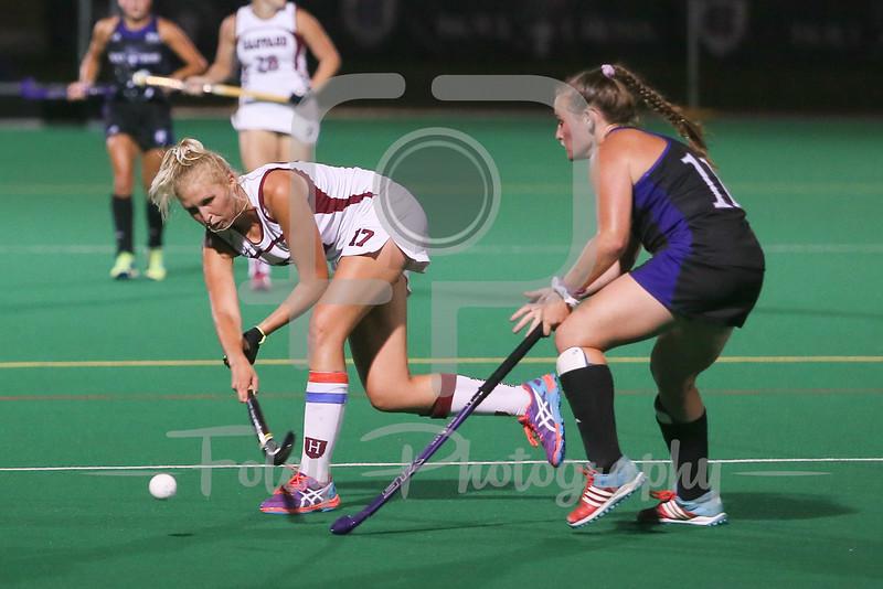 Harvard Crimson midfielder Ellie Cookson (17)
