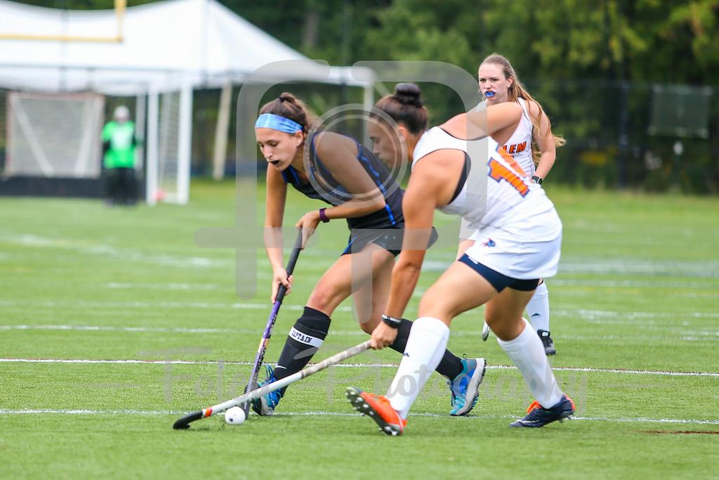 Becker College Hawks Jocelyn Lebel (9) Salem State Vikings Courtney Kilgore (14)