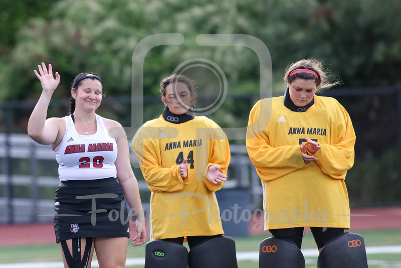 Sep. 08, 2021; Dudley, Massachusetts, USA;  during a non conference matchup between Anna Maria and Nichols College. The Bison won the game 2-0 over the Amcats at Vendetti Field. Photo by Foley-Photography.